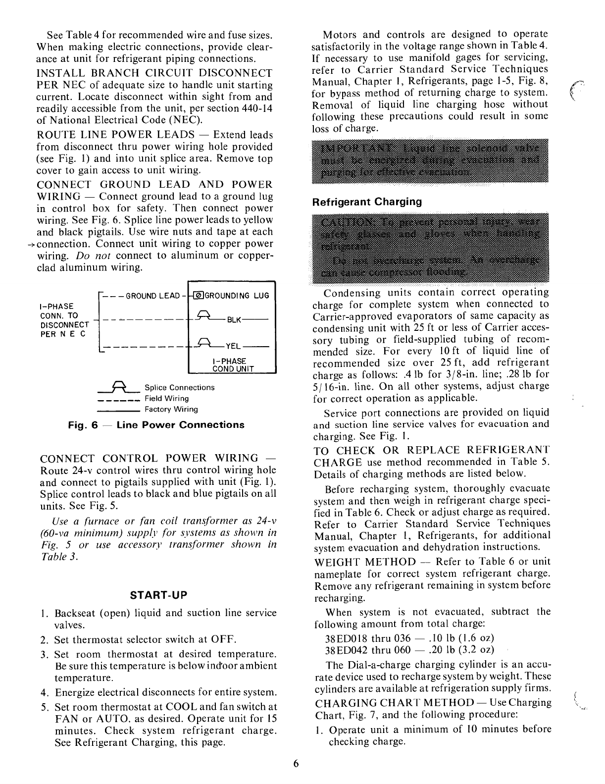 page 6 of carrier air conditioner 38ed user guide manualsonline com rh homeappliance manualsonline com Carrier 58MXA carrier standard service techniques manual chapter 1