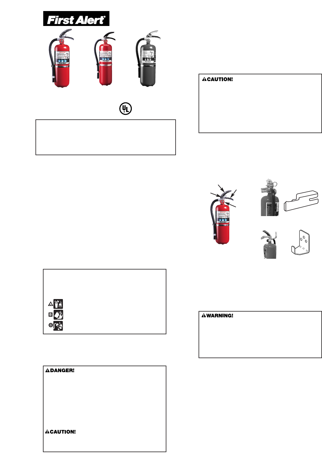 First Alert FE4A60 Fire Extinguisher User Manual