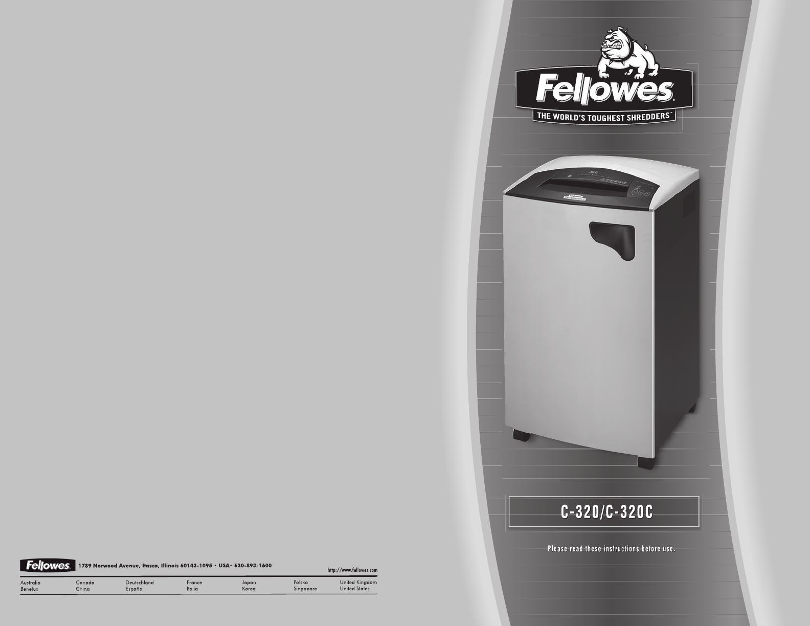 fellowes paper shredder c 320c user guide manualsonline com rh office manualsonline com