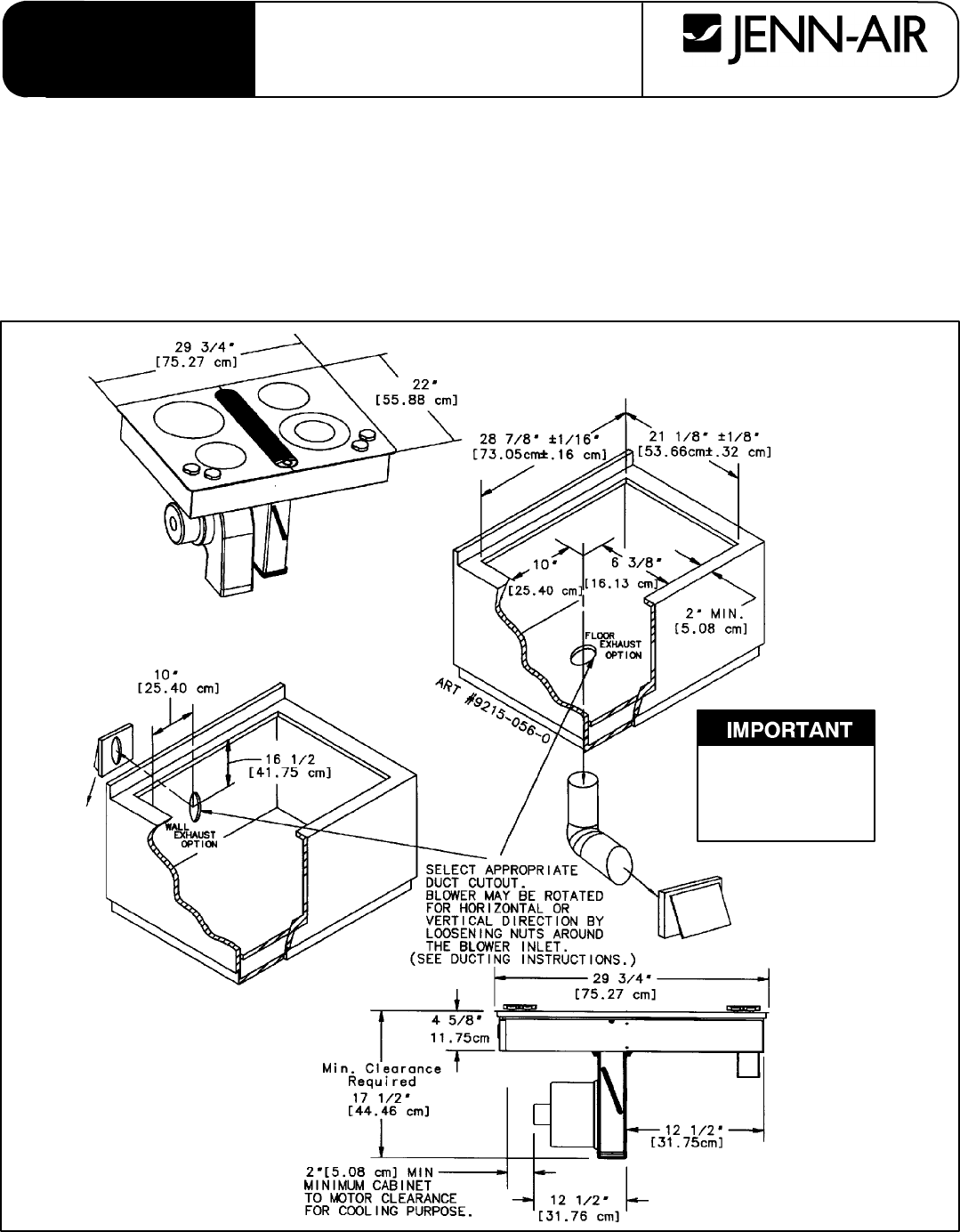 Jenn Air Cooktop Jed8430 User Guide Manualsonlinecom Electric Stove Wiring Diagram Installer Save For The Local Electrical Inspectors Use