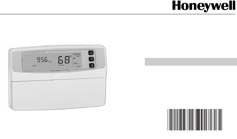 Honeywell Thermostat T8665c User Guide