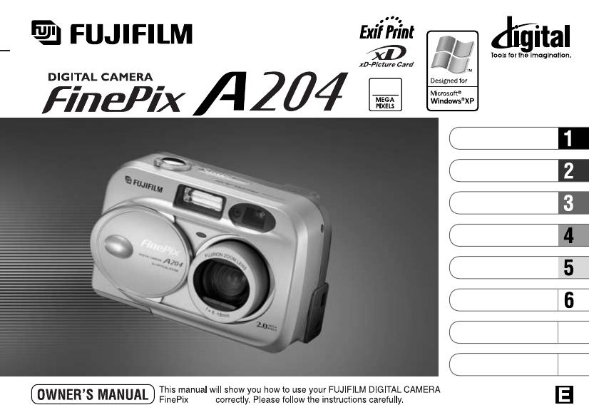 fujifilm digital camera a204 user guide manualsonline com rh camera manualsonline com  Fuji FinePix 16MP Digital Camera