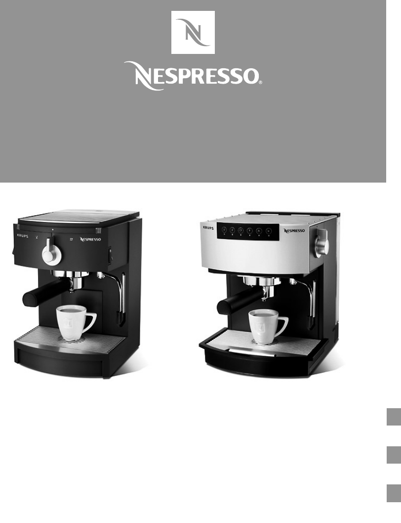 Nespresso Coffee Maker Manual : Nespresso Coffeemaker Coffeemaker User Guide ManualsOnline.com