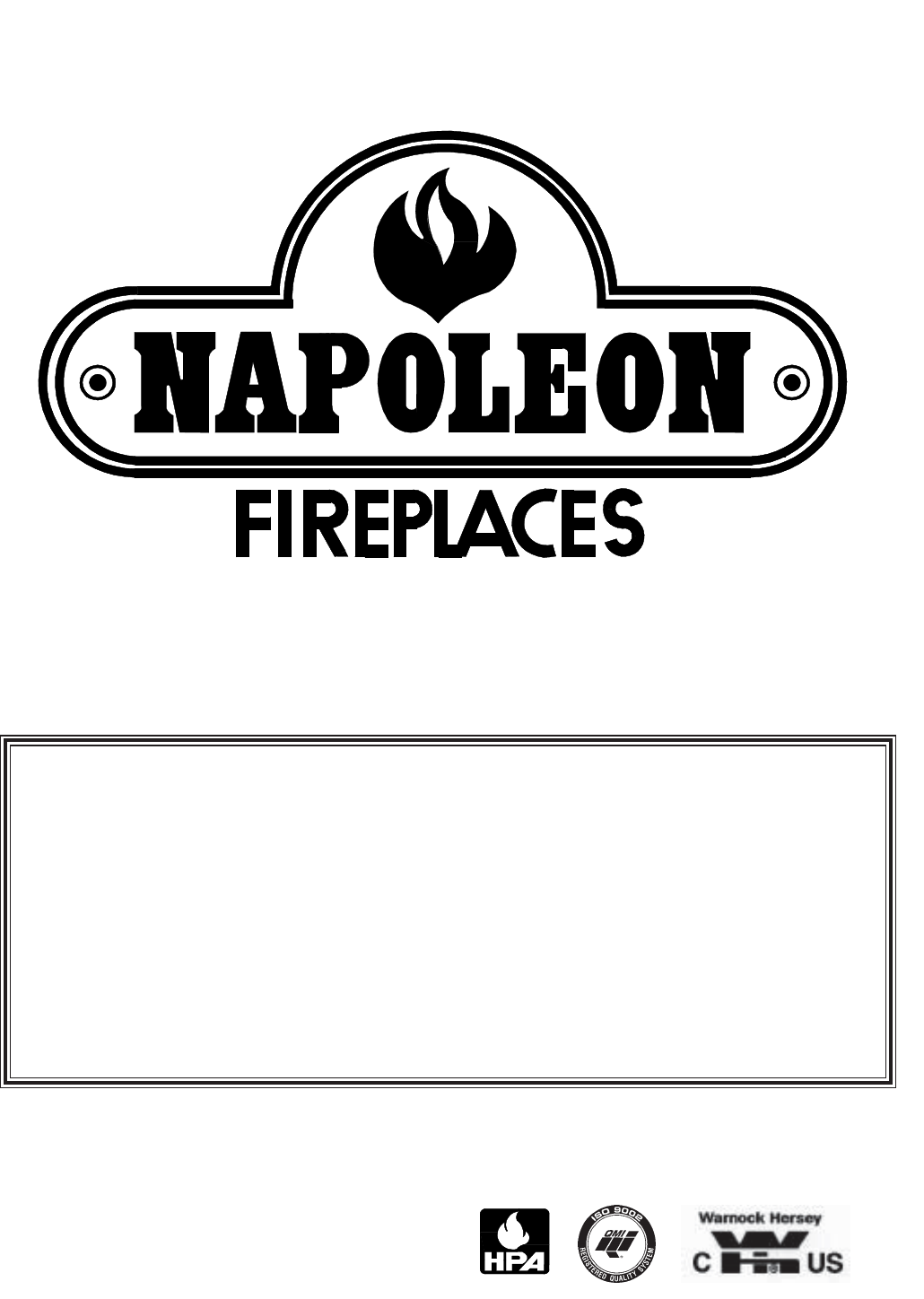 Napoleon Fireplaces Indoor Fireplace NZ25 User Guide ...