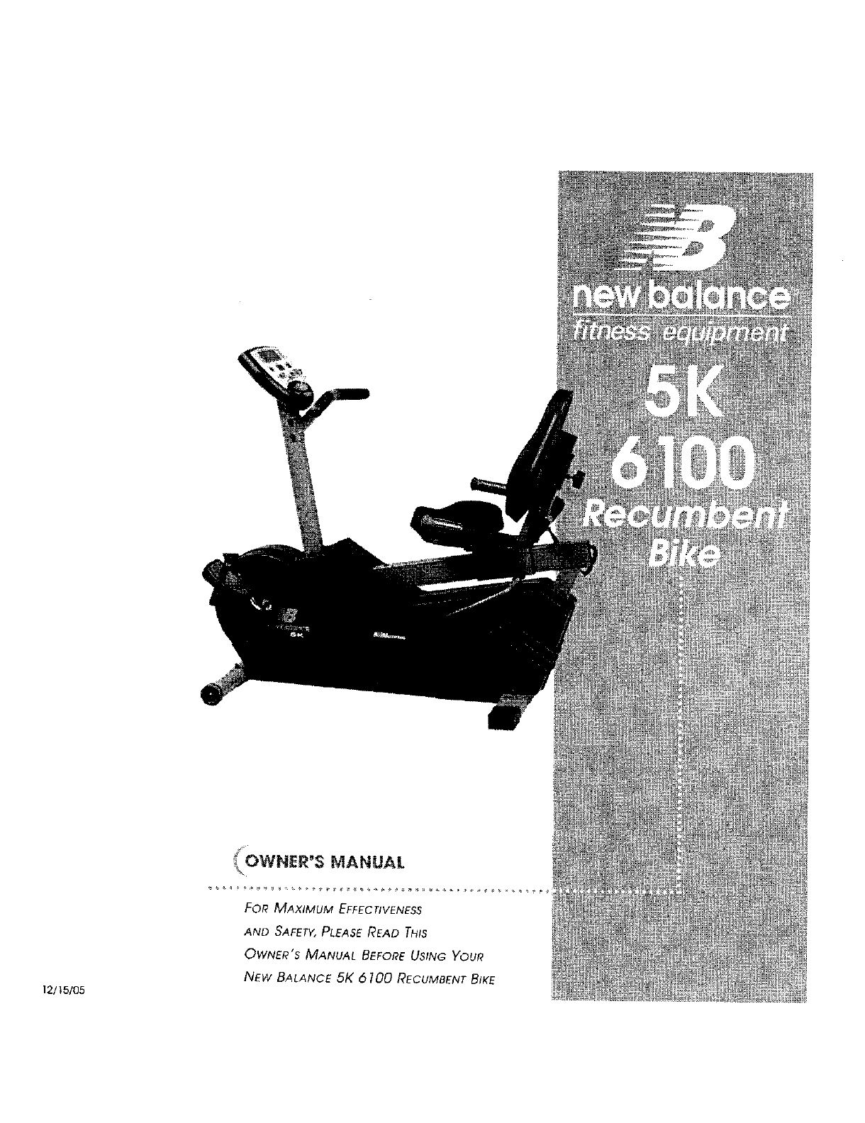 new balance 6200 recumbent bike