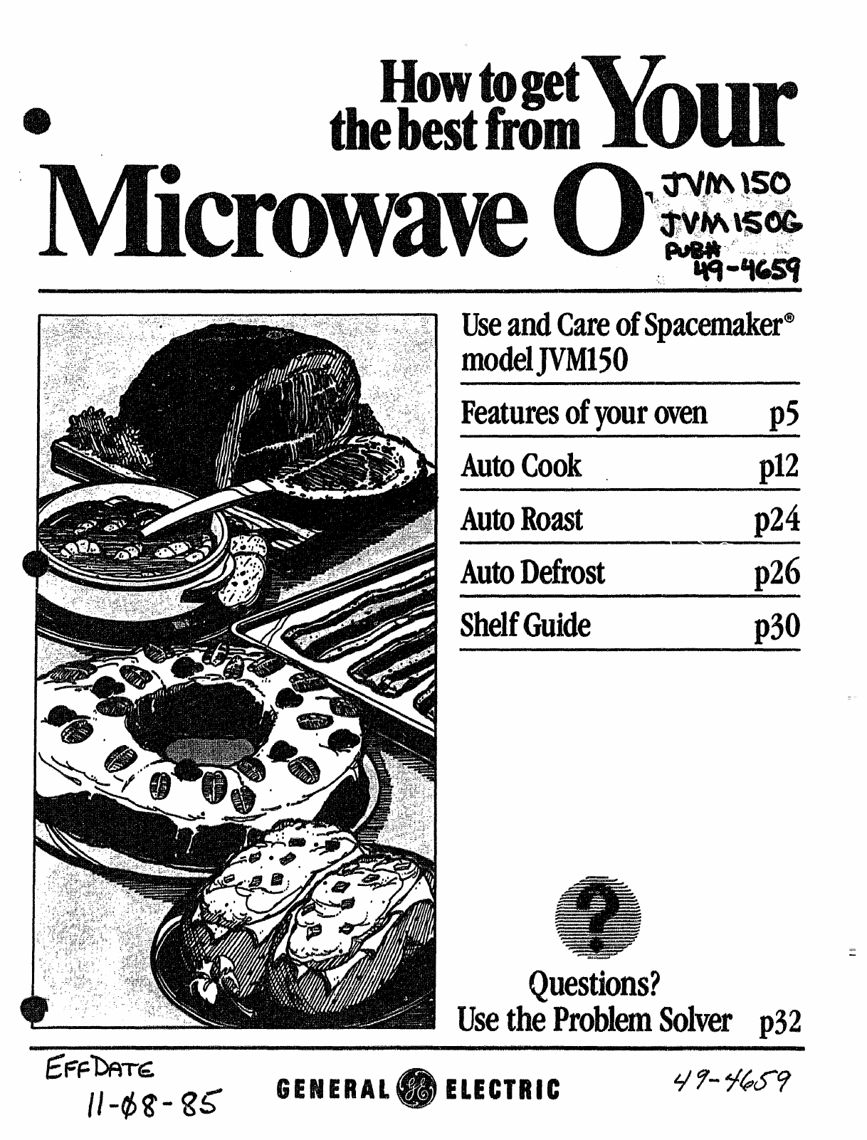 Ge Microwave Oven Jvm150 User Guide