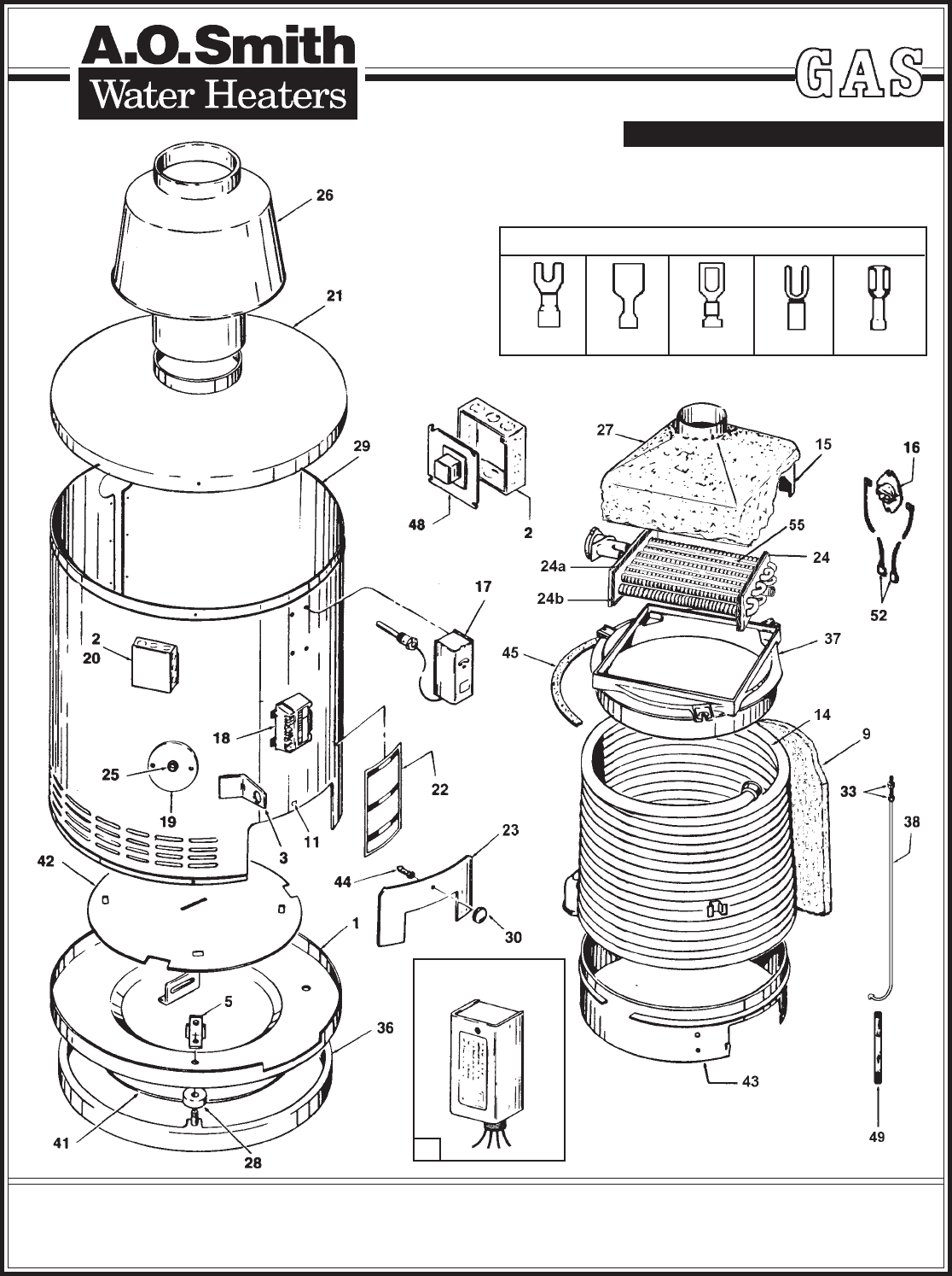 ao smith motor parts diagram