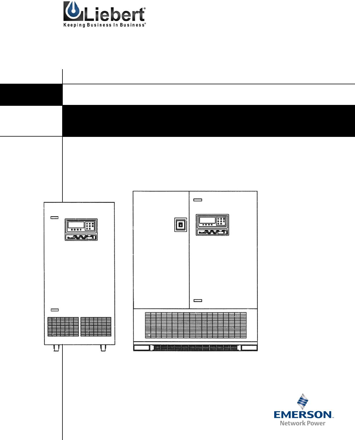 liebert nx 60 kva ups user manual