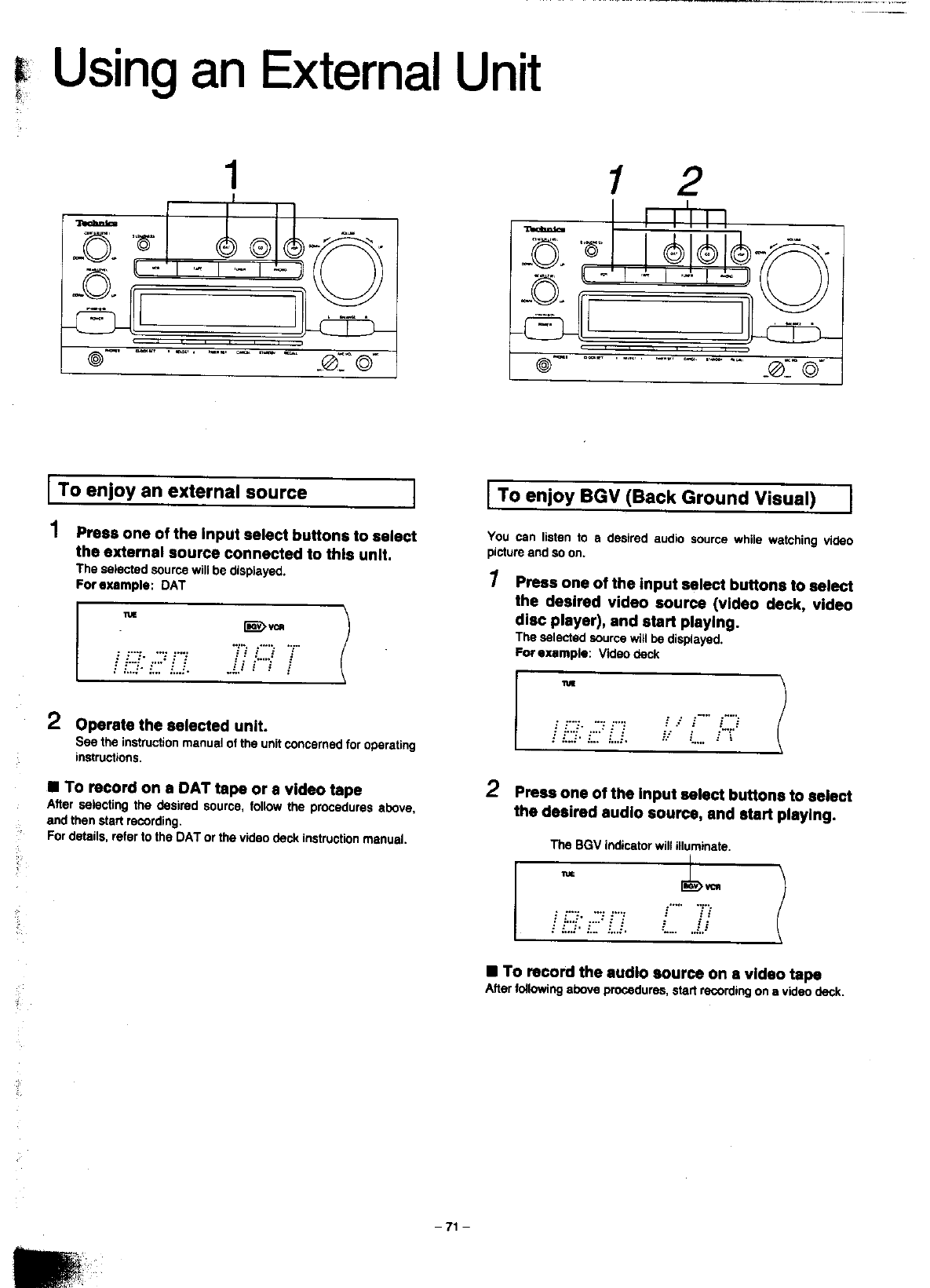 Page 70 of Technics Stereo System SC-CH900 User Guide