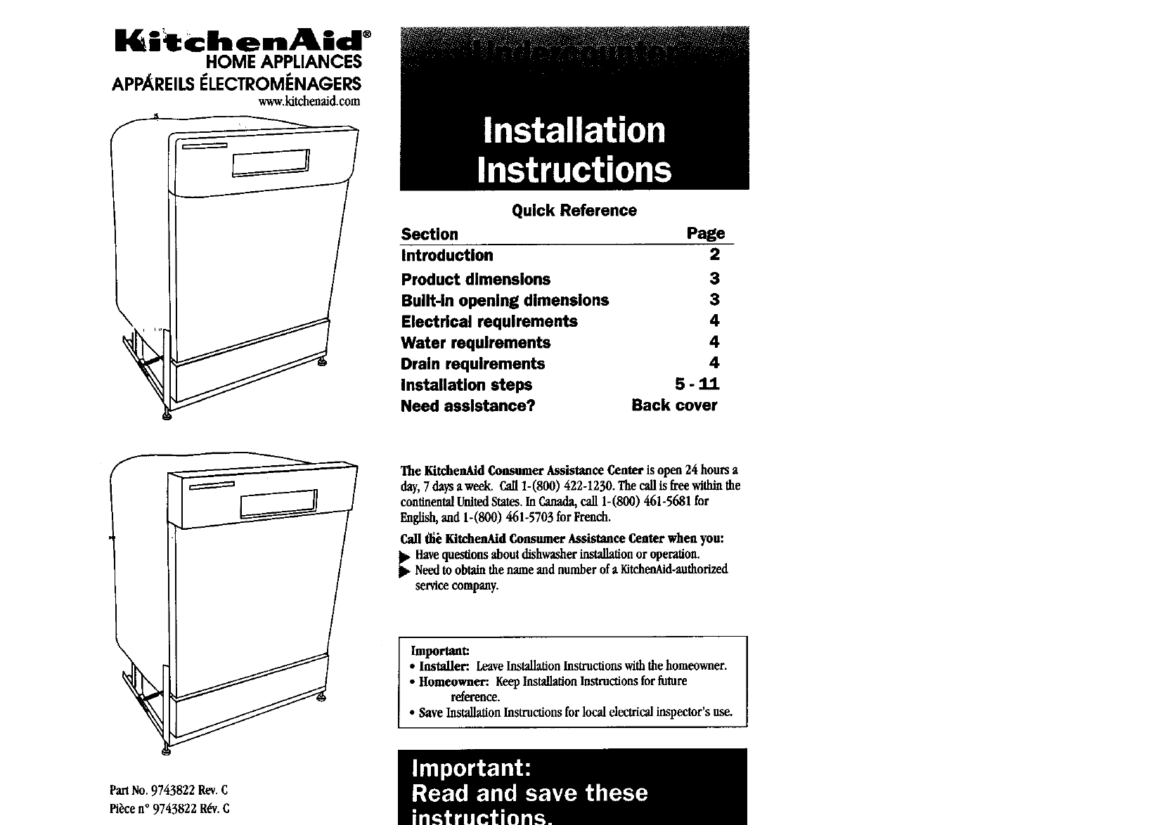 Kitchenaid Dishwasher Dimensions