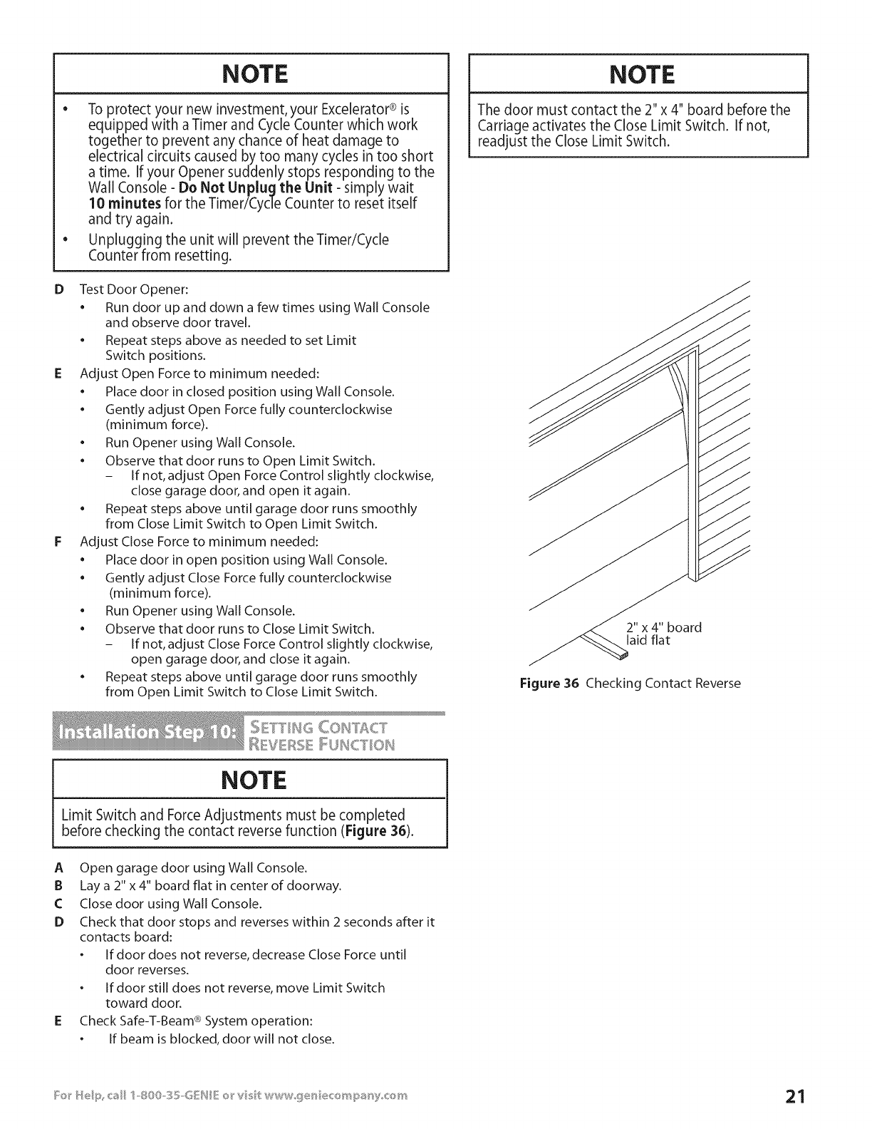 page 21 of genie garage door opener 3531835447 user guide rh homeappliance manualsonline com