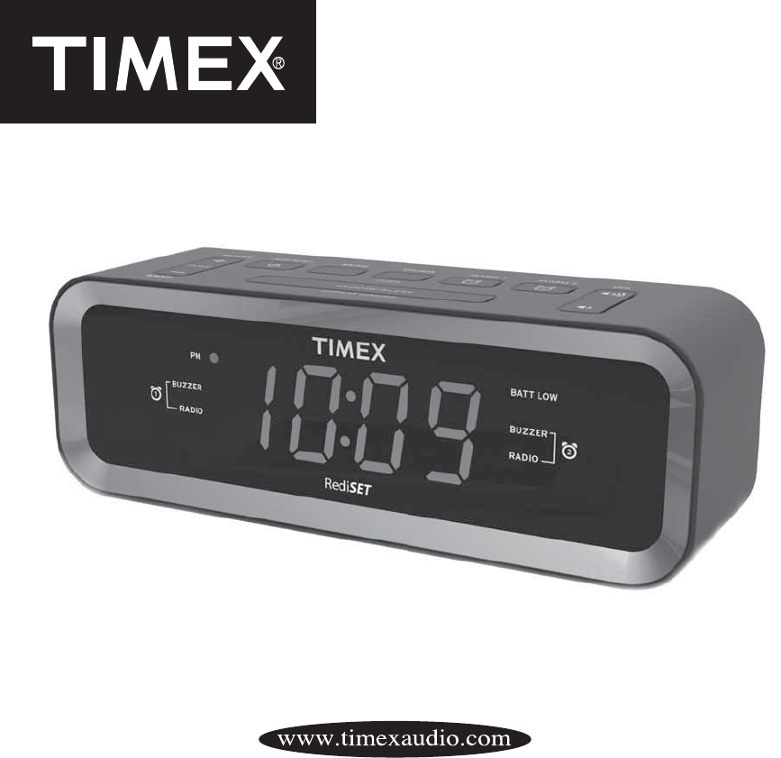 Timex Clock Radio T236 User Guide Manualsonline