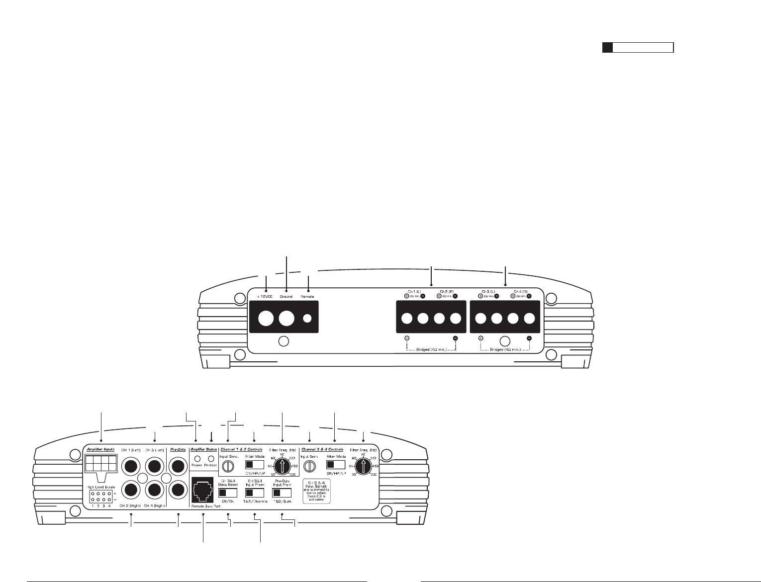 page 2 of jl audio car stereo system e4300 user guide rh caraudio manualsonline com JL Audio Amps JL Audio Wiring Diagram