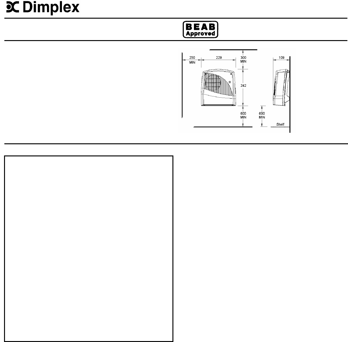 Dimplex Fan Fx 20vl User Guide Manualsonline Com border=