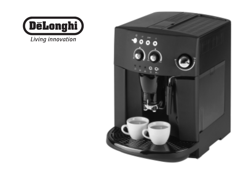 Delonghi Coffee Maker Manual : DeLonghi Espresso Maker EAM4000 Series User Guide ManualsOnline.com
