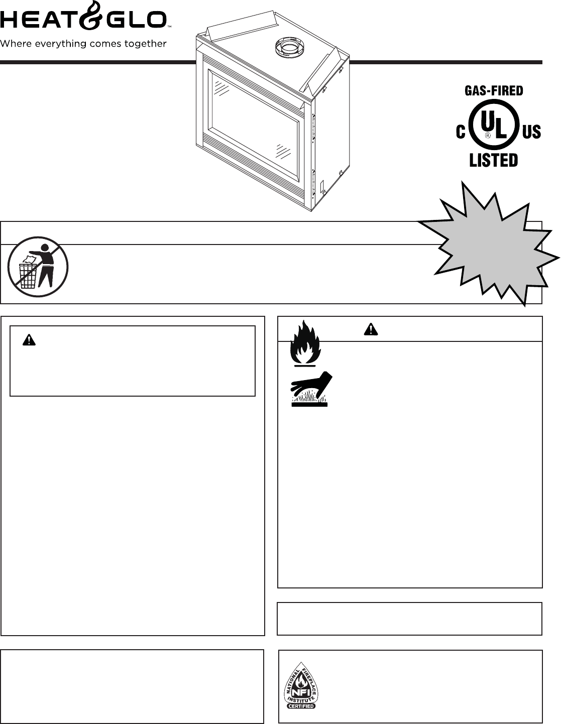 heat and glo fireplace manual