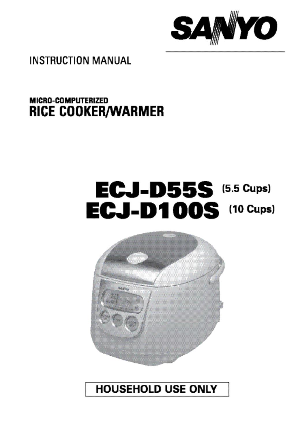 sanyo rice cooker ecj d100s user guide manualsonline com rh kitchen manualsonline com sanyo rice cooker manual ecj-d100s sanyo rice cooker manual ecj-d100s