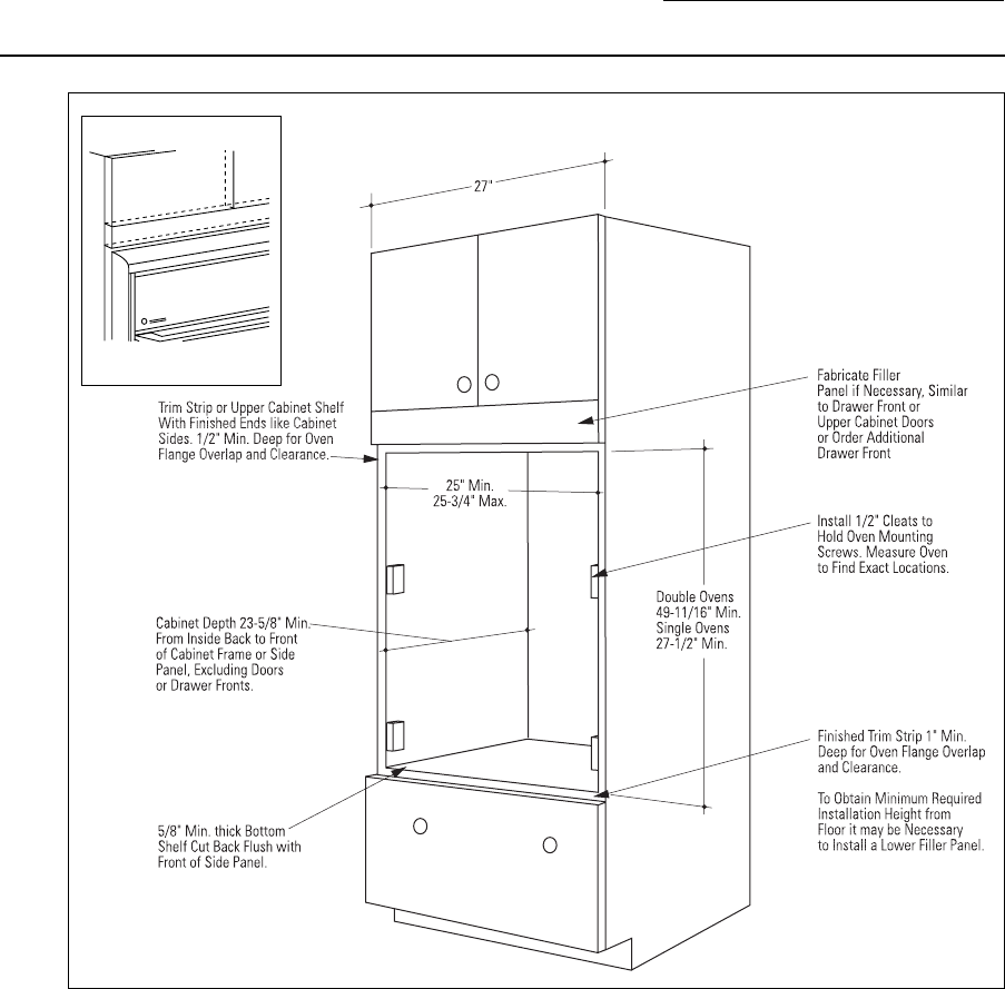 Double Wall Oven Corner Cabinet Dimensions