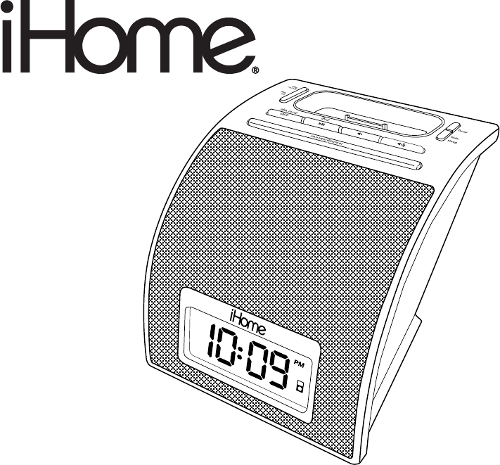 ihome clock radio ip11 user guide. Black Bedroom Furniture Sets. Home Design Ideas