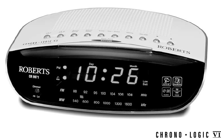 roberts radio clock radio cr99712 user guide. Black Bedroom Furniture Sets. Home Design Ideas