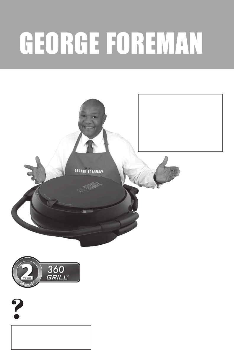 George Foreman Electric Grill Grp106qpgp User Guide Manualsonline