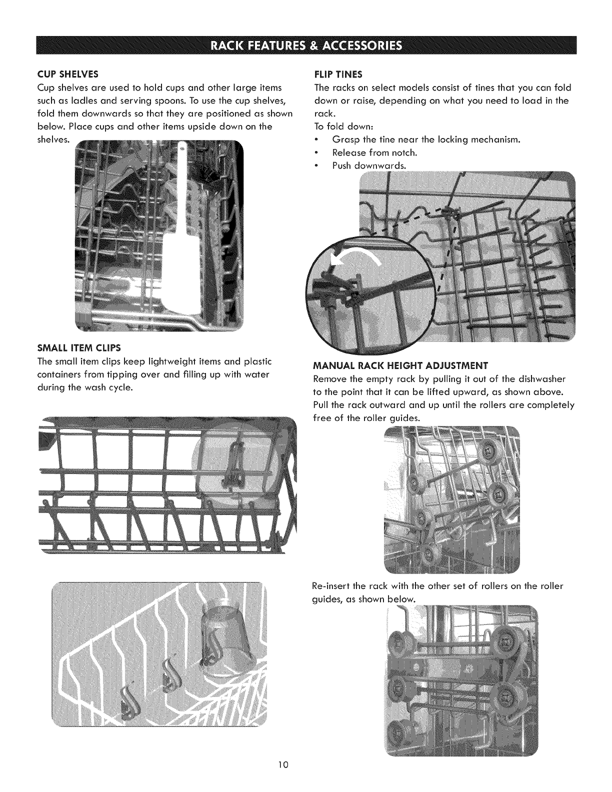 Page 10 of Kenmore Dishwasher 630.1390 User Guide ... Kenmore Dishwasher Schematic Diagram Draw Clips on