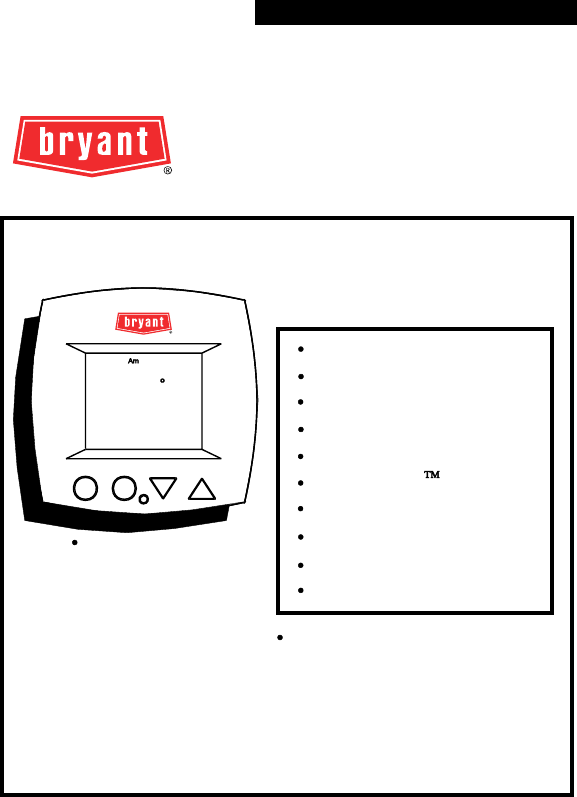 Bryant Thermostat Tstatbbpb501 User Guide Manualsonline Com