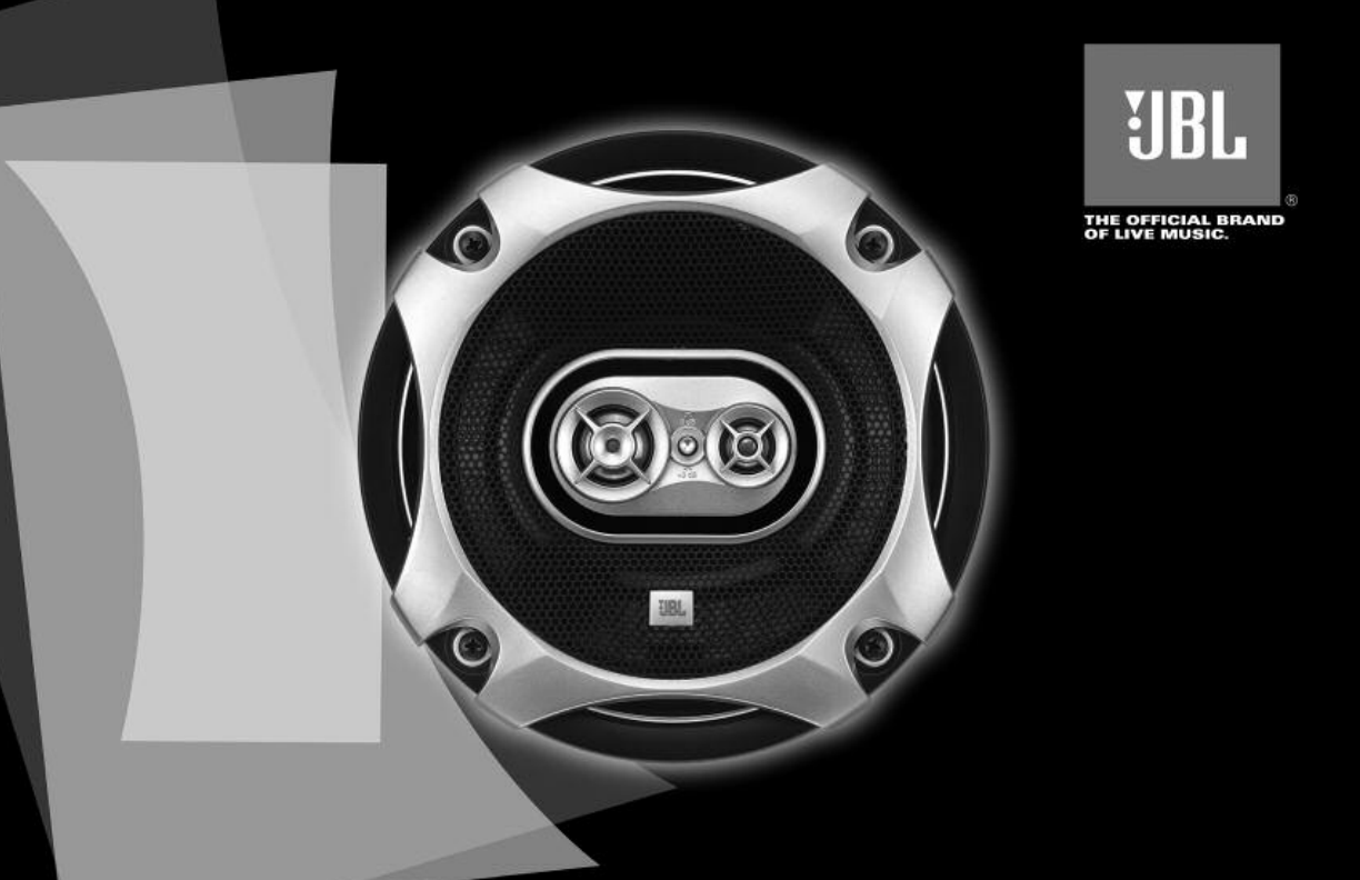 JBL GTO627 Car Speaker User Manual