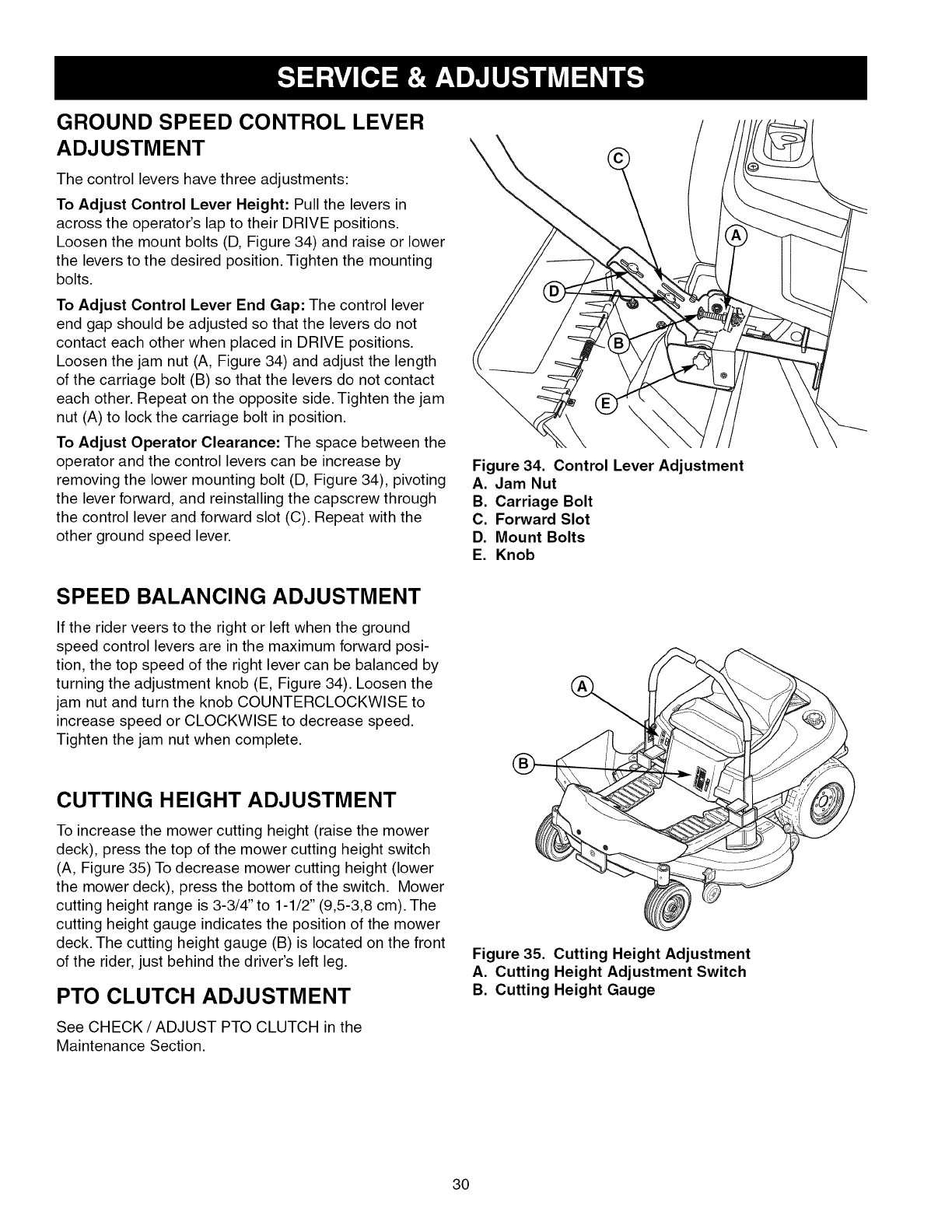 Page 30 of Craftsman Lawn Mower 107 289860 User Guide