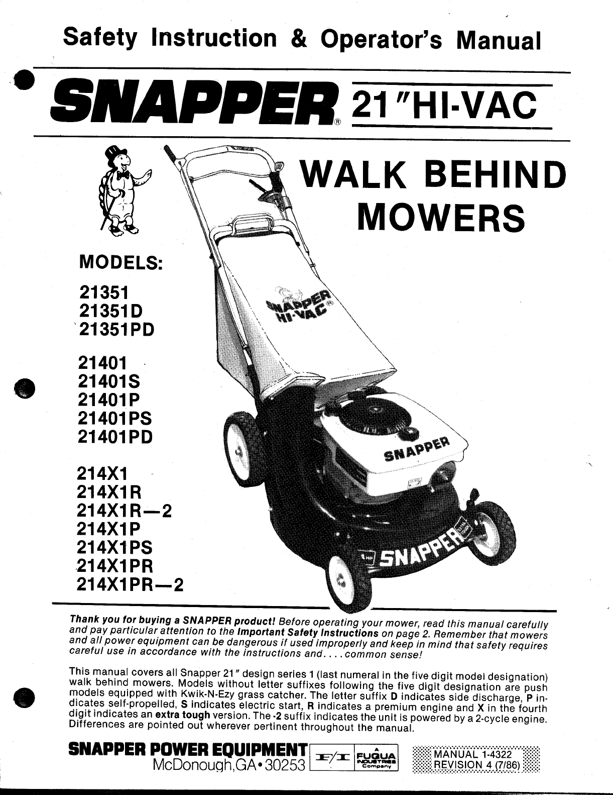 snapper lawn mower 21401p user guide manualsonline com rh marine manualsonline com Snapper Lawn Mower Blades snapper comet riding mower service manual