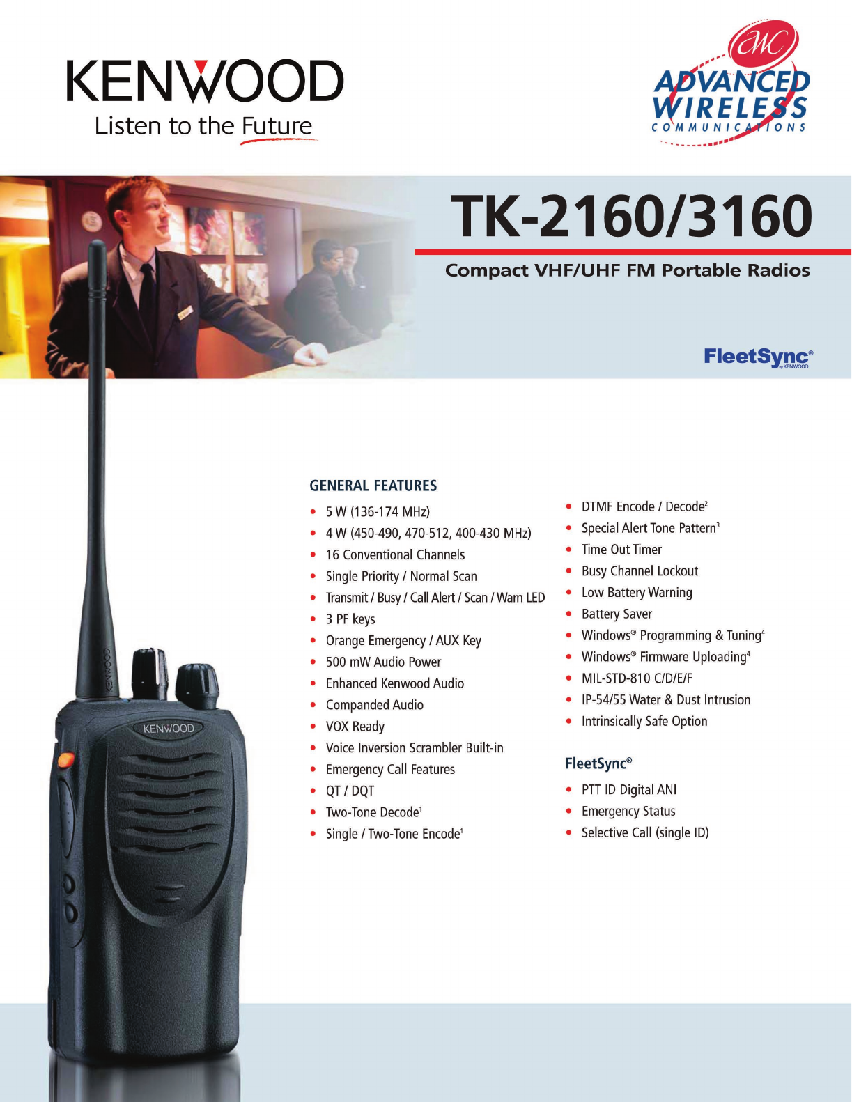 Advanced Wireless Solutions TK-2160 Portable Radio User Manual