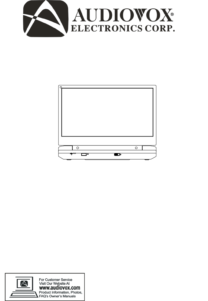 Audiovox Portable Dvd Player D1915 User Guide