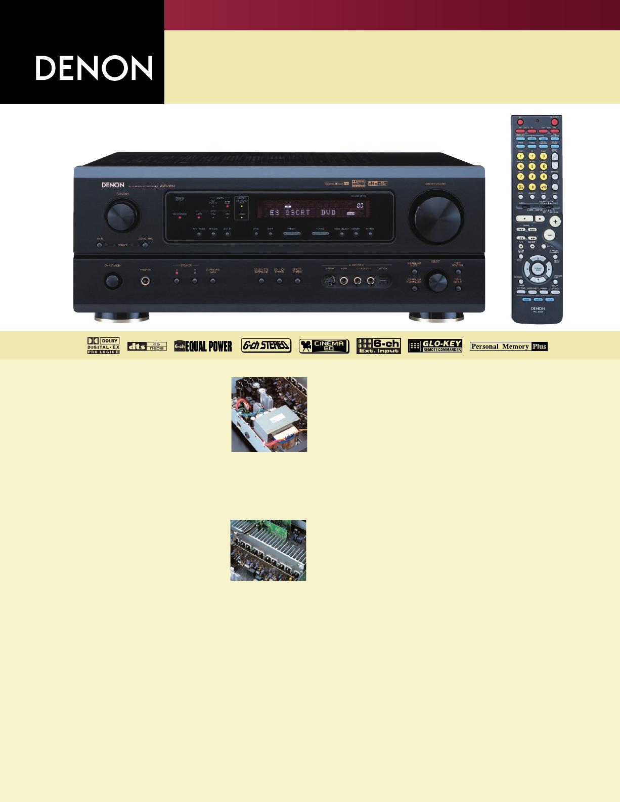 denon stereo system avr 1804 user guide manualsonline com rh audio manualsonline com Denon Stereo Amplifier Audio Amp 2200 Denon Power Amps