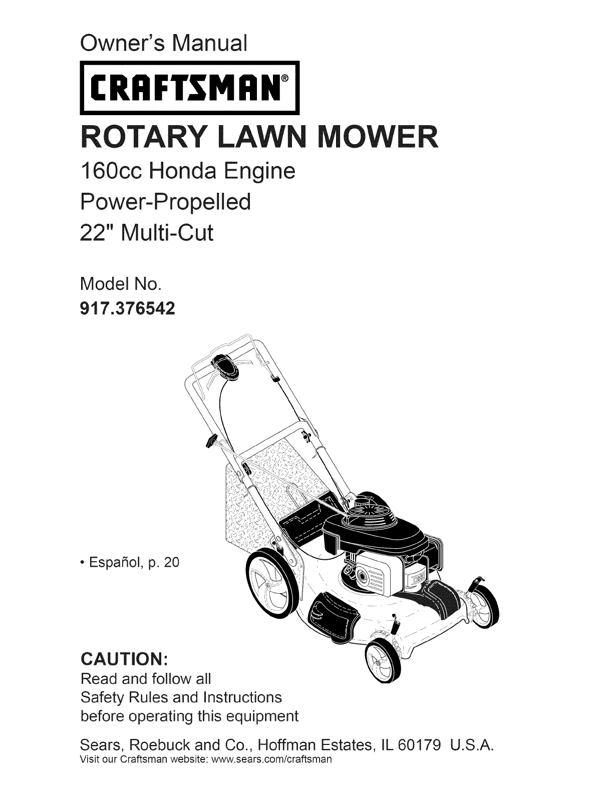 craftsman lawn mower 917 376542 user guide manualsonline com rh manualsonline com craftsman gcv160 owner's manual craftsman gcv160 pressure washer manual