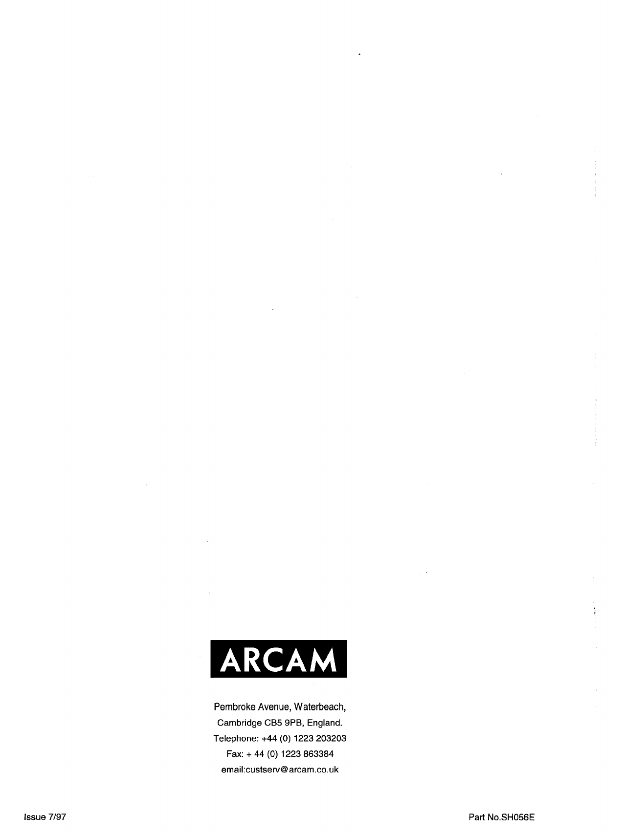 page 15 of arcam home theater system alpha av50 user guide rh audio manualsonline com Arcam Ribon Arcam Award