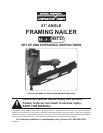 harbor freight tools 98733 nail gun user manual page 1