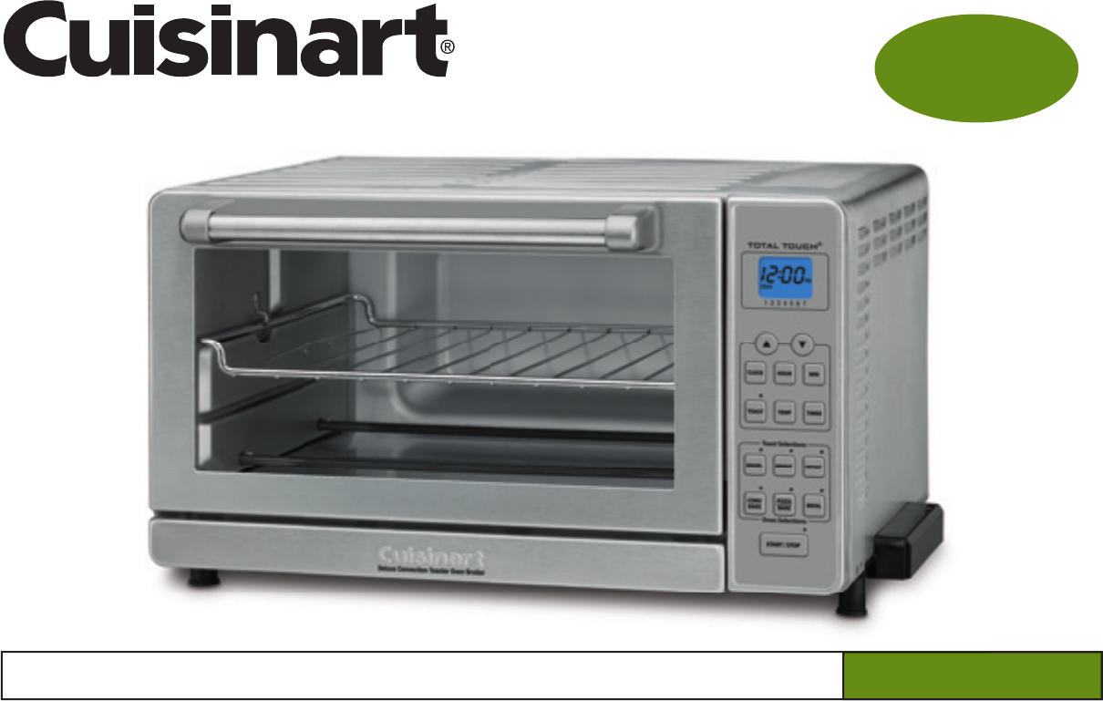 Cuisinart Deluxe Convection Toaster Oven Broiler User Manual