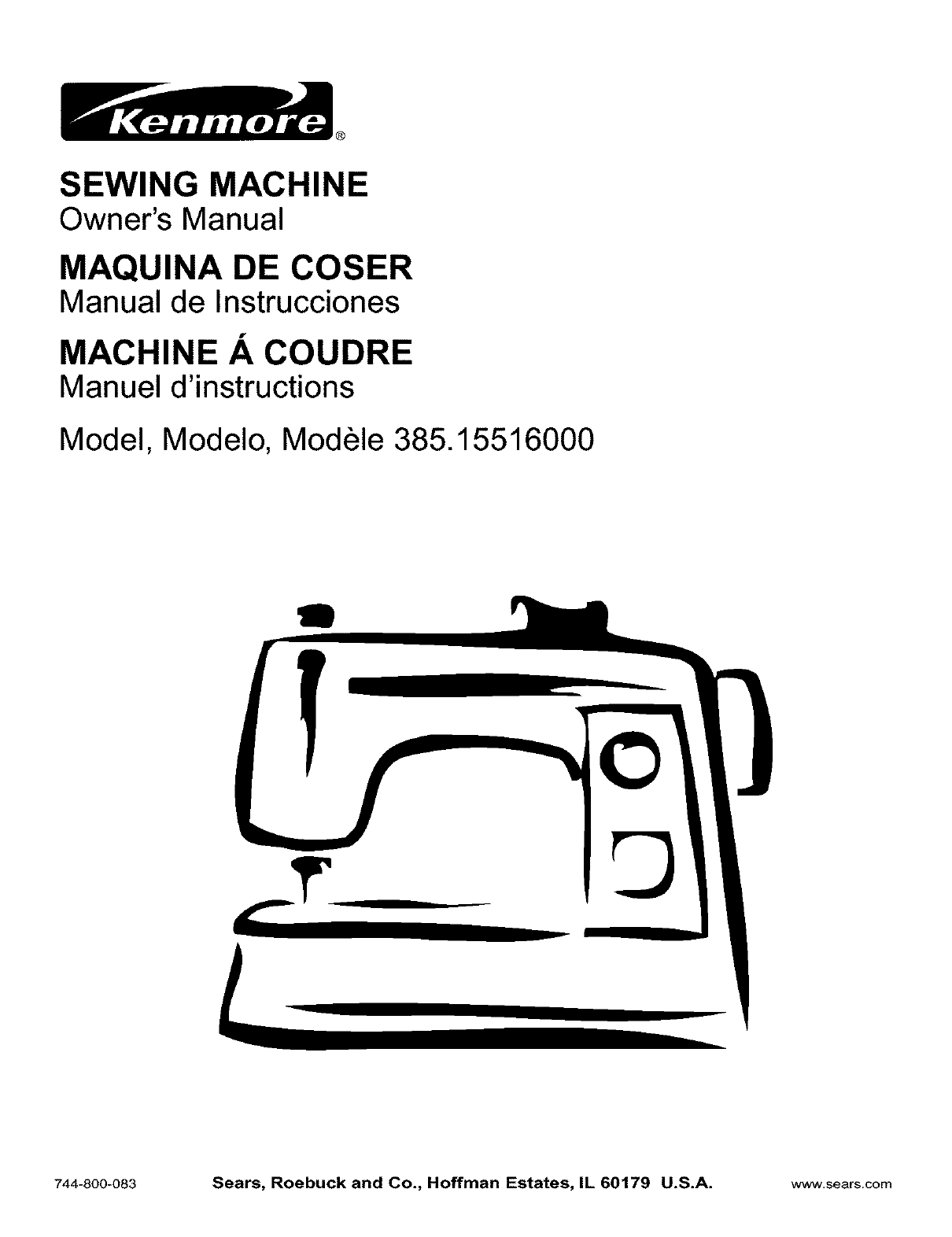 kenmore sewing machine 385 15516 user guide manualsonline com rh homeappliance manualsonline com sears kenmore owners manuals online sears kenmore washer owners manual