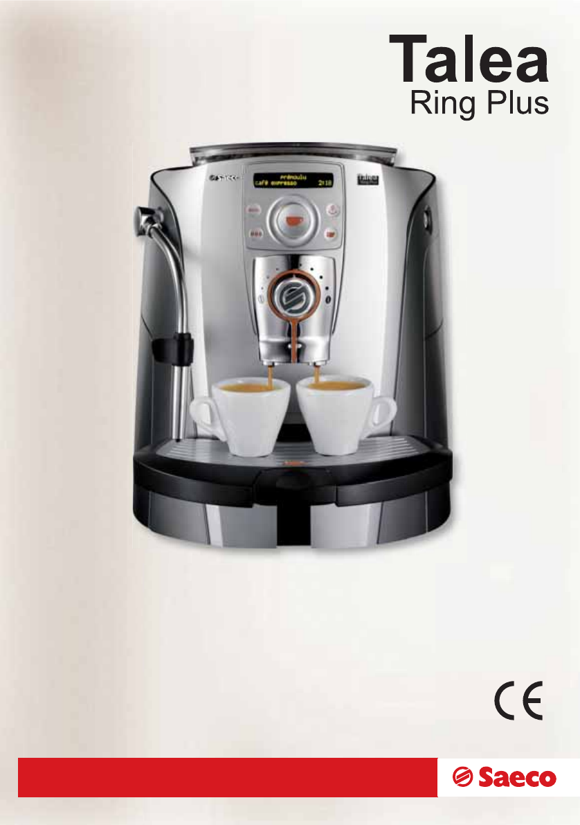 Saeco Coffee Maker Owner S Manual : Saeco Coffee Makers Espresso Maker SUP032BR User Guide ManualsOnline.com