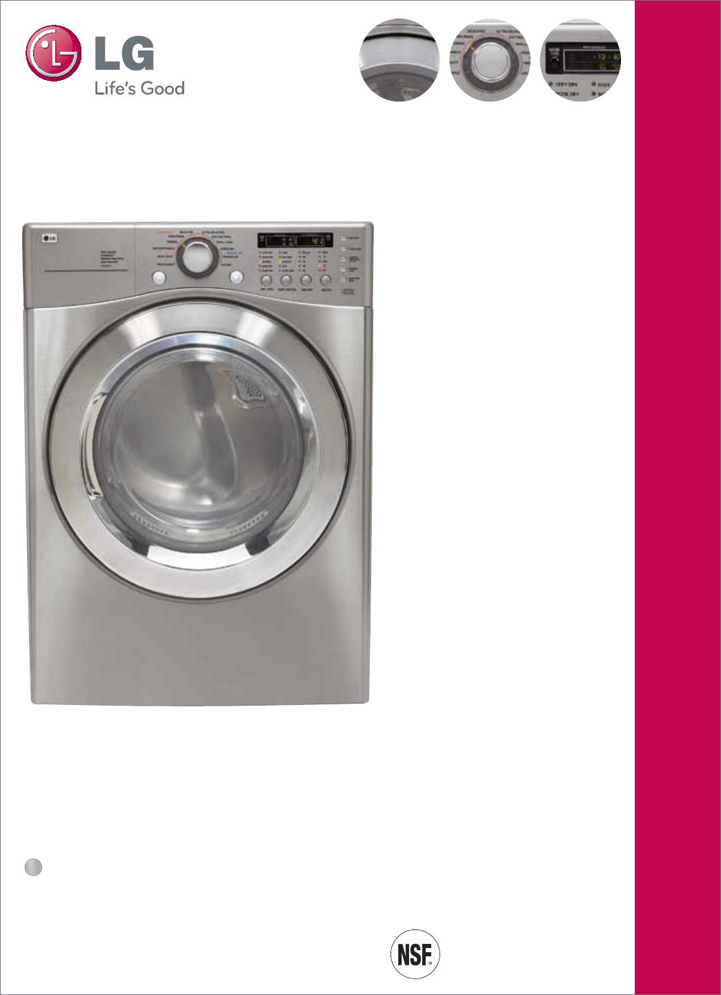 lg electronics clothes dryer dle2701v user guide. Black Bedroom Furniture Sets. Home Design Ideas
