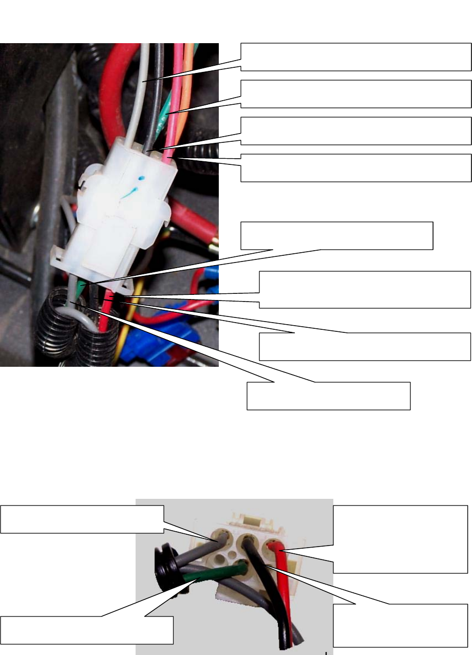 page 8 of swisher lawn mower zt2560 user guide manualsonline com wiring harness to engine plug connection