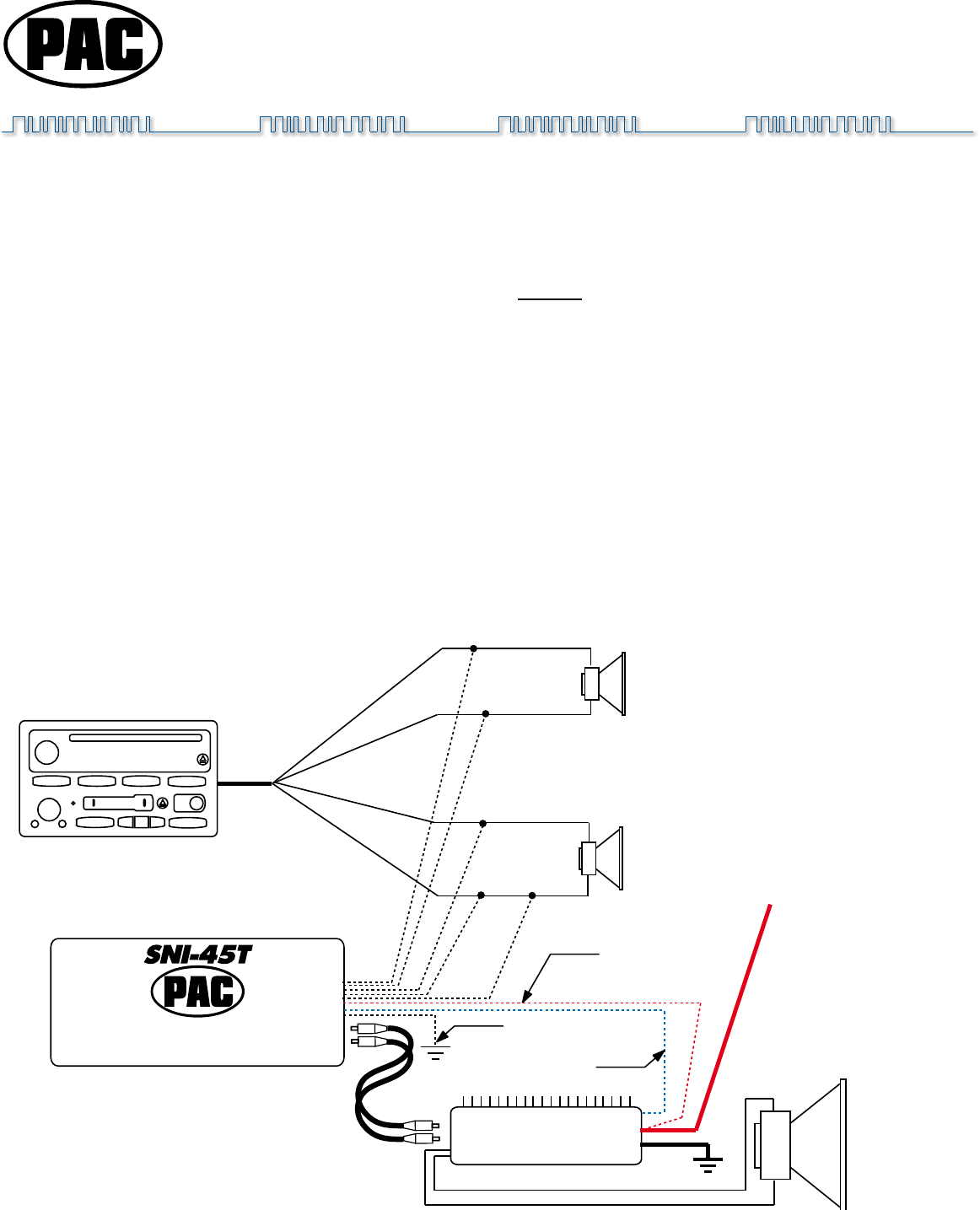 Sni 50a Wiring Diagram additionally How To Wire A Line Out Converter Diagram together with Pac Line Out Converter Wiring Diagram moreover Peak Backup Camera Wiring Diagram further Pac Sni 15 Wiring Diagram. on scosche output converter wiring diagram