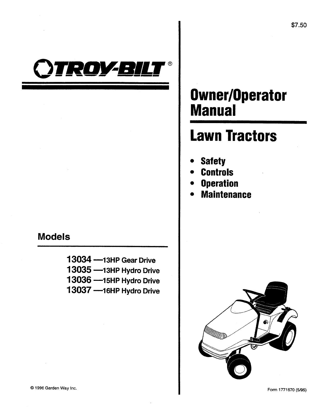 troy bilt lawn mower 13034 user guide manualsonline com rh lawnandgarden manualsonline com troy bilt owners manual tb90bc troy bilt owners manual 30r