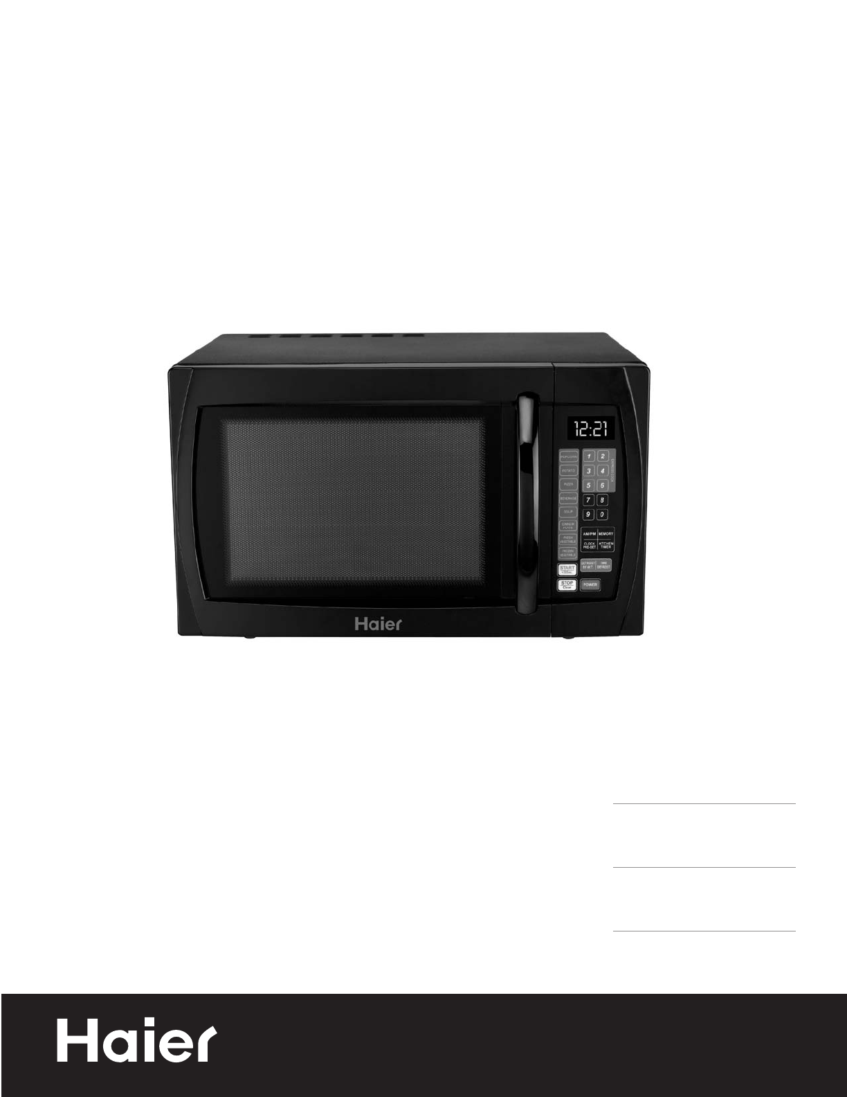 haier microwave oven mwm11100tw user guide manualsonline com rh kitchen manualsonline com haier thermocool microwave manual haier thermocool microwave manual