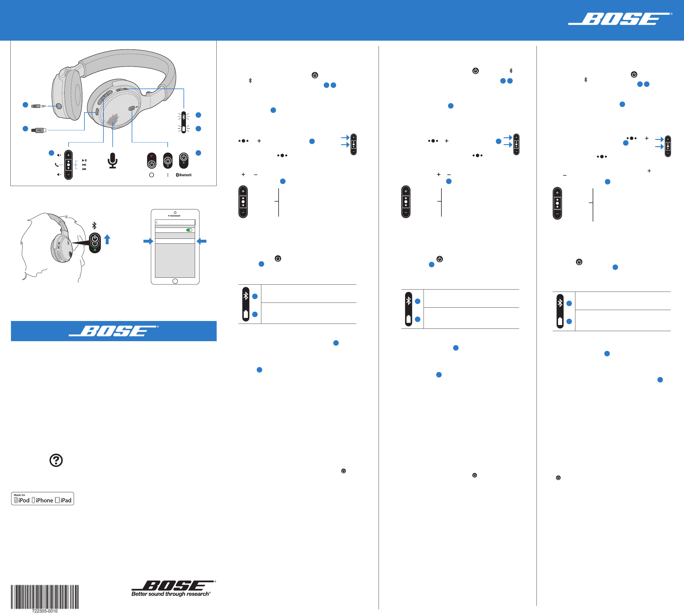 bose headphones soundlink on ear bluetooth headphones user guide rh audio manualsonline com bose headphone manual download bose sport headphones manual