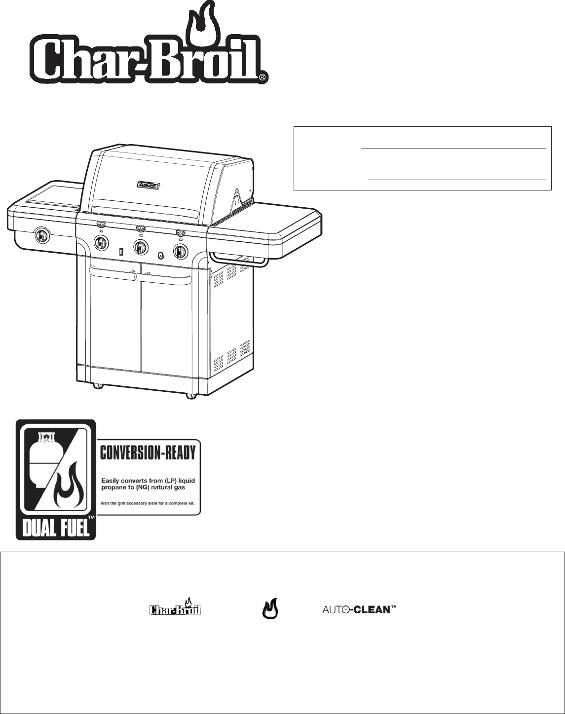 char broil gas grill 463222209 user guide manualsonline com