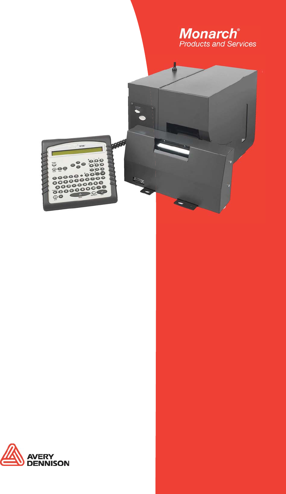 Paxar Monarch 9860 Printer User Manual