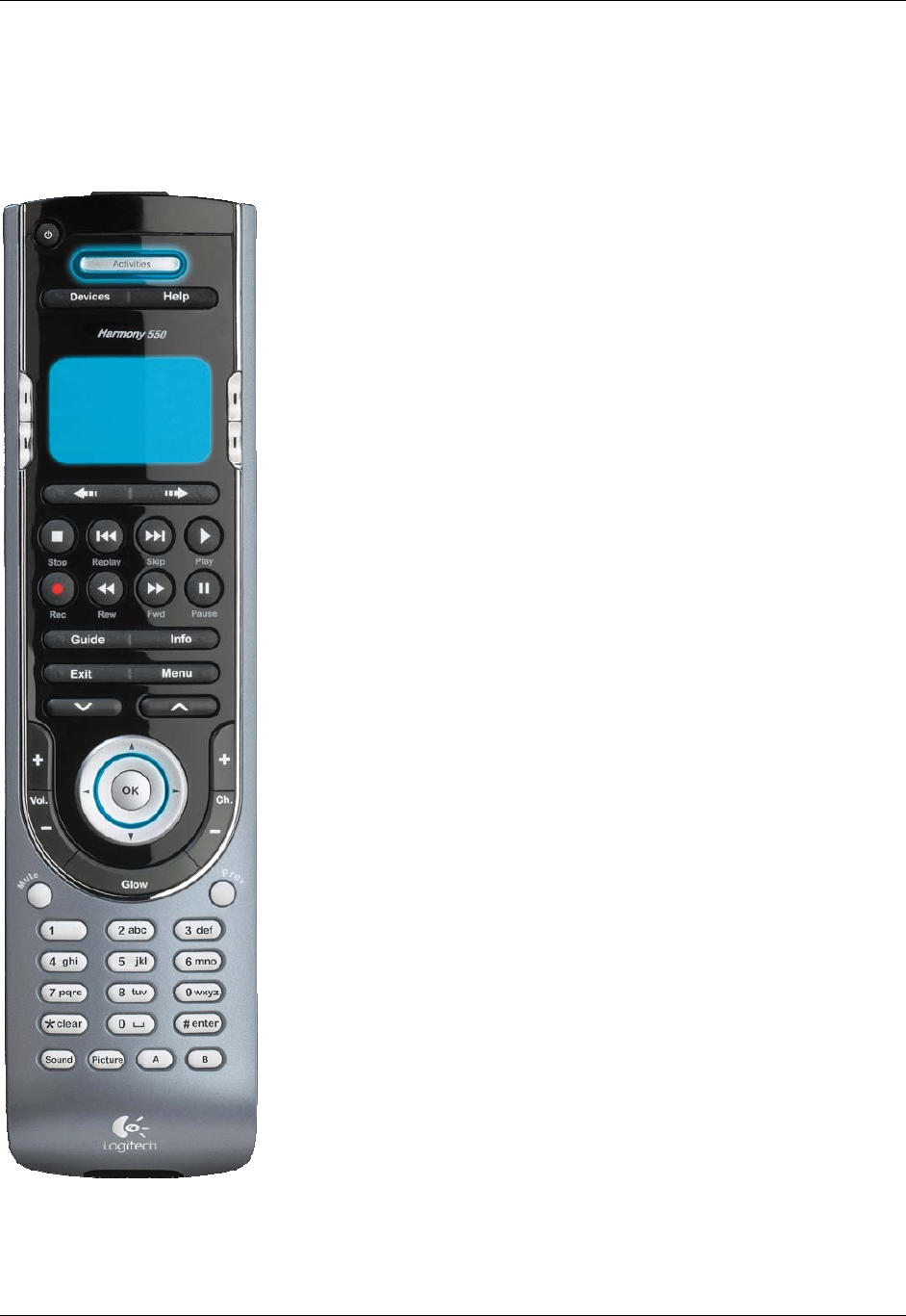 page 4 of logitech universal remote 550 user guide manualsonline com rh tv manualsonline com Logitech Harmony 550 Programming Logitech Harmony 550 Programming