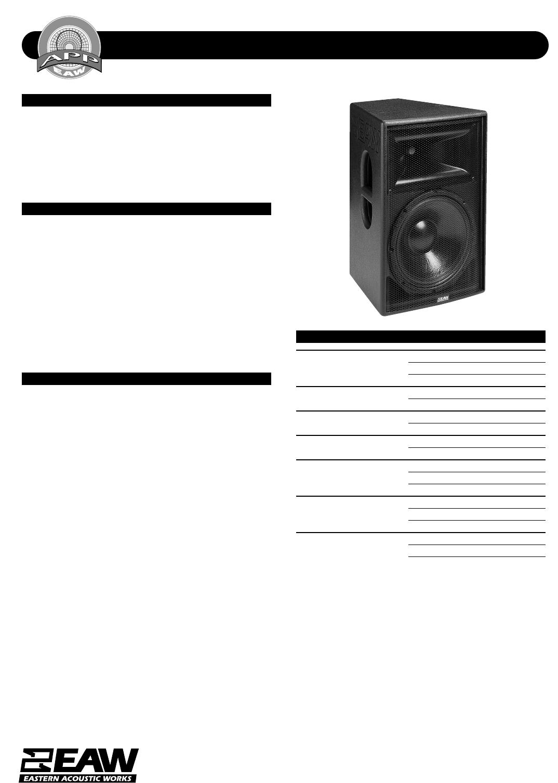 eaw portable speaker fr129z user guide manualsonline com rh portablemedia manualsonline com