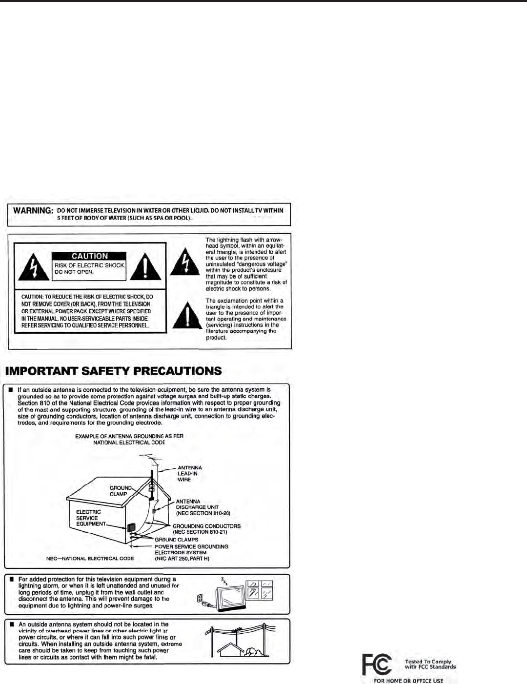 Page 3 of SunBriteTV Flat Panel Television 5510HD User Guide